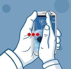 Captura de pantalla Samsung J7 con un movimiento