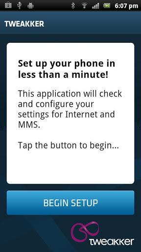 Configurar con la aplicacion Tweakker automaticamente los datos APN, Internet y la configuracion MMS en moviles Android 1