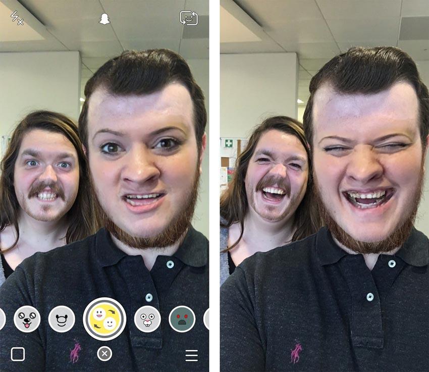 ¿Cómo se usa el filtro de intercambio de caras o Face Swap en Snapchat?
