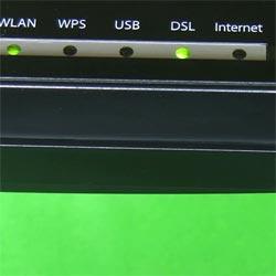 Comprobar las luces del Router inalámbrico