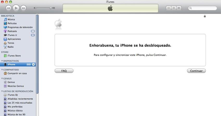 Pasos para desbloquear iPhone