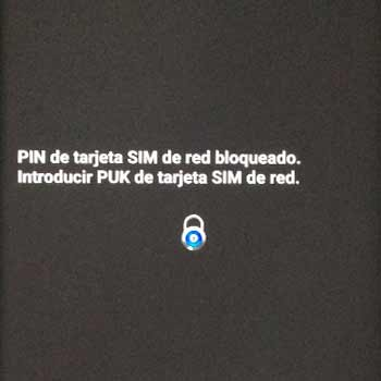 Introducir PUK de tarjeta SIM de red